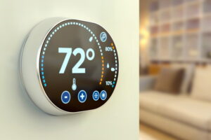 smart-thermostat-on-wall-in-home